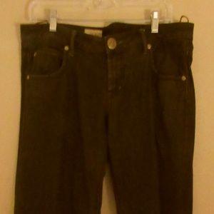 Free People Dark Brown Siz 31 Wide Leg Jeans